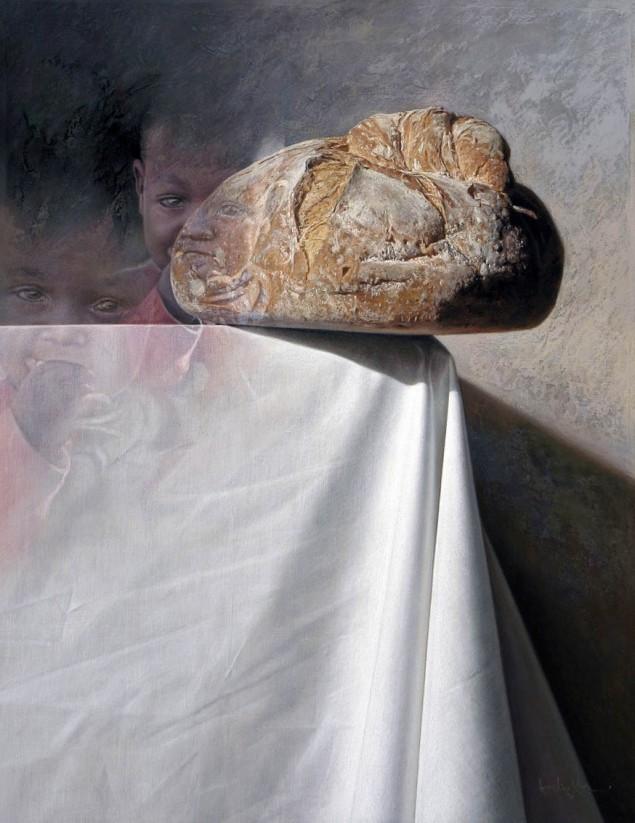 @Crisis.....  88x69 cm. Pastel s. madera y mortero acrílico.2011