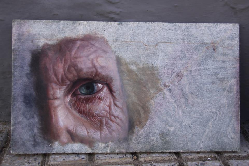 Las vetas del alma exposicion de pinturas de soledad aza for Pintura para marmol