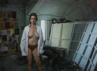modelo-en-el-estudio-de-Tacheles-Nora