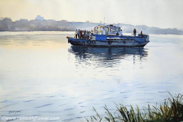 The Morning Ferry To Bandha Ghat, Kolkata