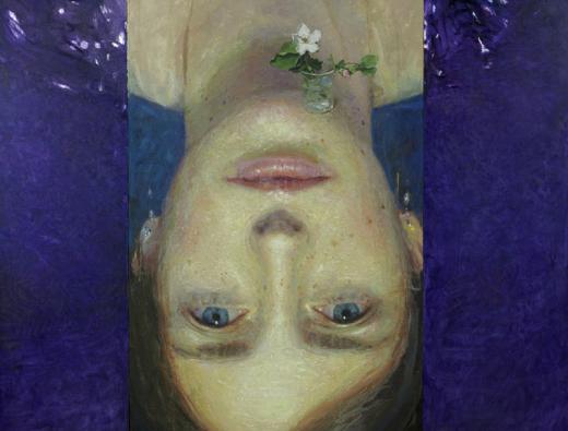 Golucho-Vaso con flor de membrillo