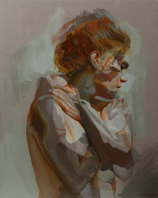 """""""Powiązania"""" oil on canvas"""
