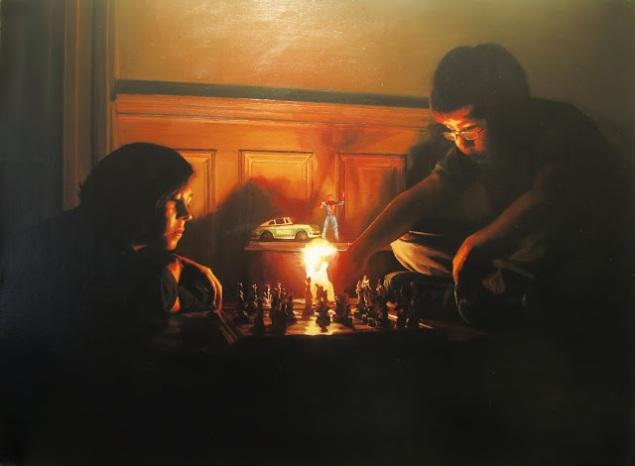 El juego. 130 x 96 cm. 2009, óleo sobre lino