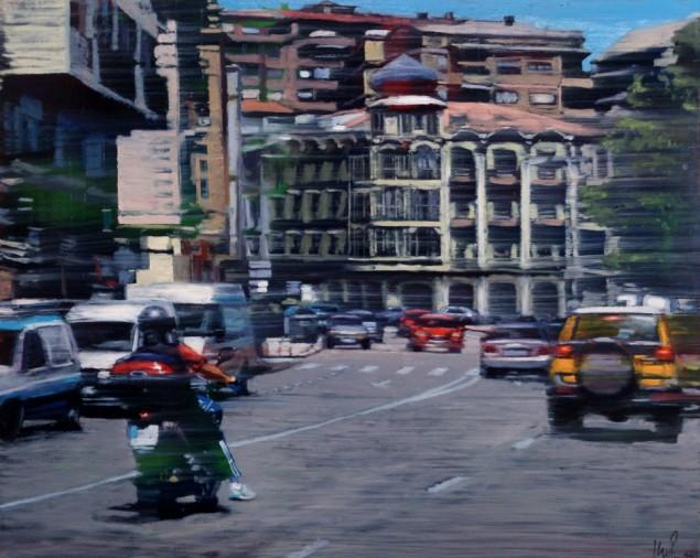 Cruzando la ciudad 60 x 73 cm (Medium)