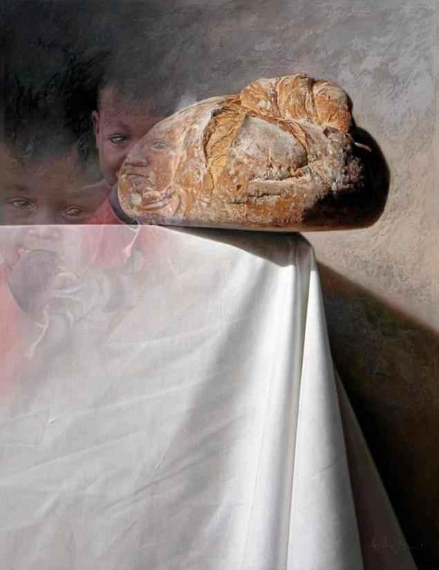 """2º Premio I Exposición Virtual Realismo en la pintura, compartido al empatar a puntos, (exento tercero) para la obra """"Crisis"""" de Aurelio Rodriguez Lopez"""