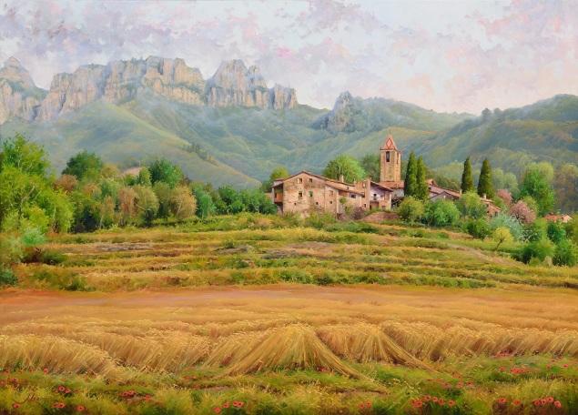 El trigo nos acompaña. 100 x 81 cm