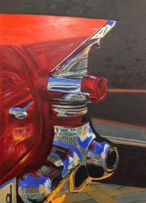 "Autor: Xavier Florensa titulo, ""chrome bumper"" dimensiones 92x64 cm y tecnica, Óleo sobre lienzo"
