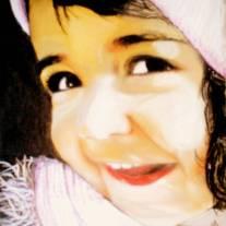 Autor: Leo Collado Pardo titulo: mi pequeña picara dimensiones: 19 x 23 técnica. pastel seco sobre papel canson