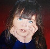 Artista: Paco Leal. Titulo: Cari Dimensiones: 50 x 50 cm Técnica: Oleo / Lienzo