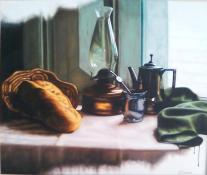 Autor: Eduardo Tejada Titulo de la obra: Destello medidas: 60 x 70 cm tecnica: oleo sobre lienzo