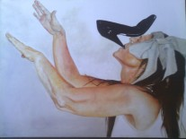 Autor: Bernardino Torres títulos: Percepción , Oleo sobre lienzo 80x60