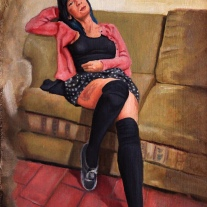 Autor: Orlando Pedraza título: Almita dimensones: 28x37cm técnica: óleo/tela-madera