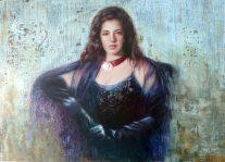 Autor: Carmen Alquezar Valero Titulo: Retrato de Maria Tecnica mixta: Óleo y Acrilico Medidas: 105 x 7