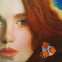 Autor: Ángel Yagüe Título: Ariel Técnica: Óleo sobre lienzo 81x100 cm.