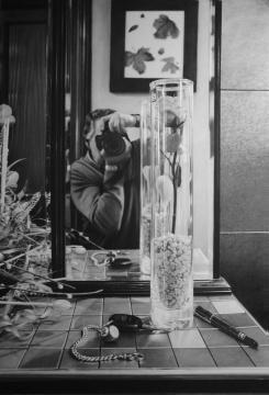 Autor: Manjarrés Titulo: el espejo Técnica: mixta. Aerógrafo, pastel y grafito sobre papel Dimensiones: 100 x 70 cm