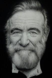 Autor: Ruben Rs Título: Retrato Robin Williams Dimensiones: 21 x 30 cm Técnica: Lápiz y pastel al oleo