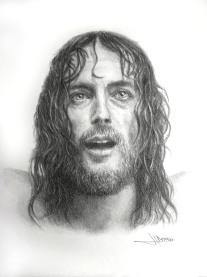Autor: JOSE LUIS ROMERO RODRIGUEZ titulo: JESUS DE NAZARET - LA EXPIRACIÓN dimensiones: 30 X 40 CM técnica: GRAFITO SOBRE PAPEL