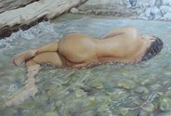 Autor: Jorge Marin La Bañista Técnica: Oleo sobre lienzo 120 cms x 90 cms