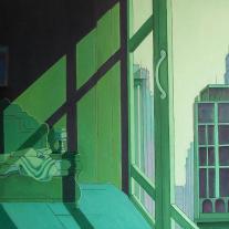 Autor: José Luis García Pascual Título: La habitación Dimensiones: 116 x 81 Técnica: Óleo sobre lienzo