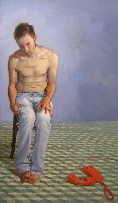 Autor: Jordi Gamón Blanch Obra: Metathesiophobia 170 x 100 cm Acrílico y óleo sobre tabla 2013