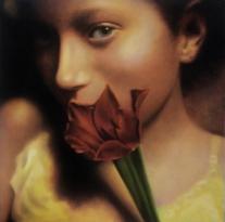 Autor : Raul Pazos Titulo : Niña Tecnica : Pastel sobre tabla Dimensiones : 50 cm x 50 cm
